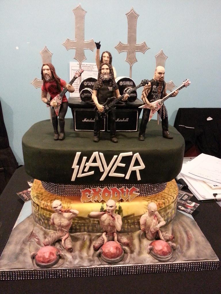 SlayerExodus Cake Ramona Schatzer Flickr - Slayer birthday cake