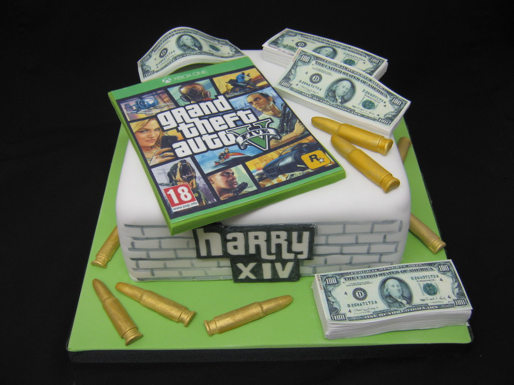 Gta 5 Birthday Cake My Son S 14th Birthday Cake He
