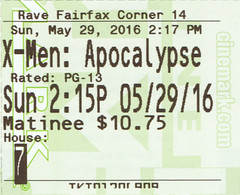 X-Men: Apocalypse ticketstub