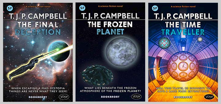 trio of my Asimov style covers