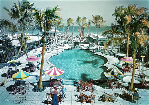 Color Tinted Image of the Raleigh Hotel, Miami, FL in 1941