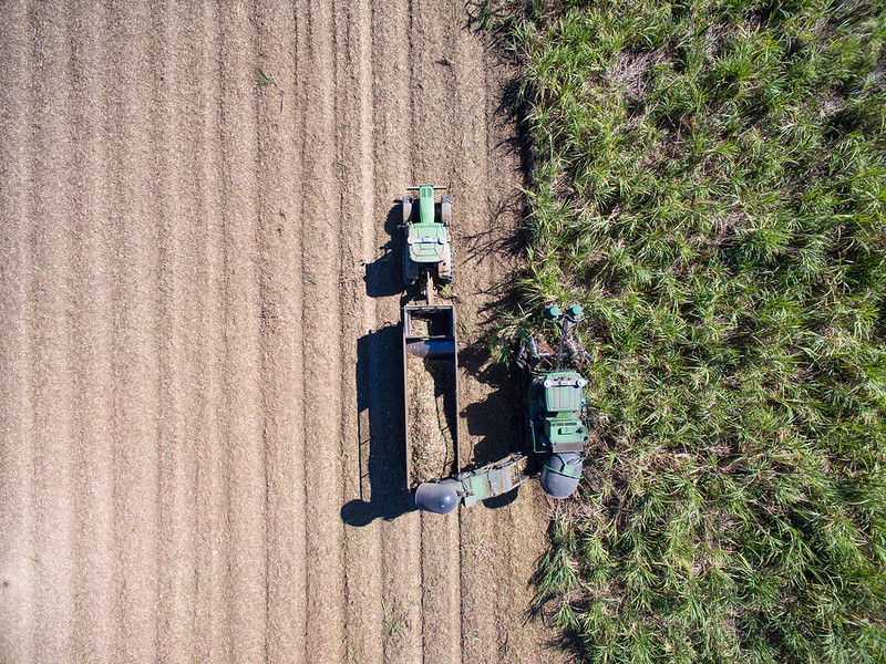 harvester from drone