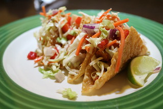 Applebee's Won Ton Chicken Tacos