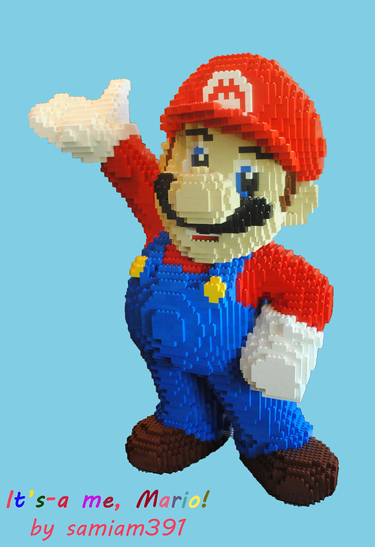 Mario Sculpture- 8000 Bricks