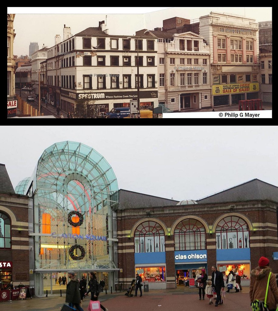 Cases Street Clayton Square Liverpool 1 1985 And 2014
