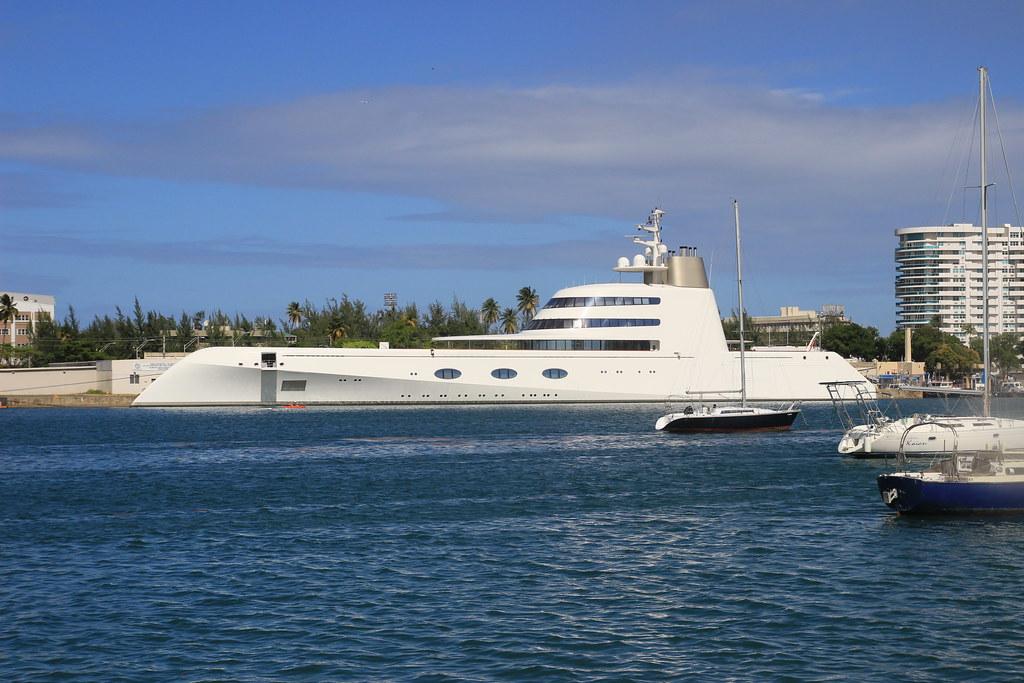 Motor Yacht A Docked In San Juan Bay Marina