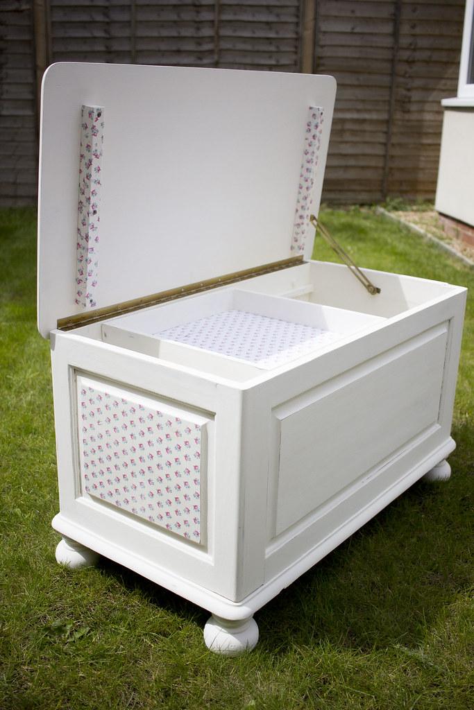 decoupaged bedding box by StickerKitten