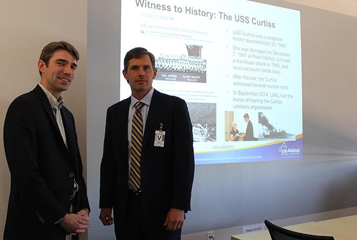 U.S. Senator Martin Heinrich and LANL historian Alan Carr