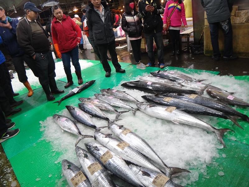 台南安平漁市賣土魠。攝影:潘佳修。