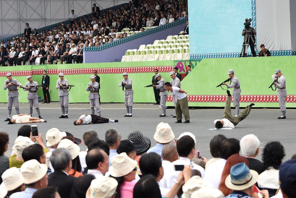 「台灣之光」呈現二二八受難者的場景。(攝影:宋小海)