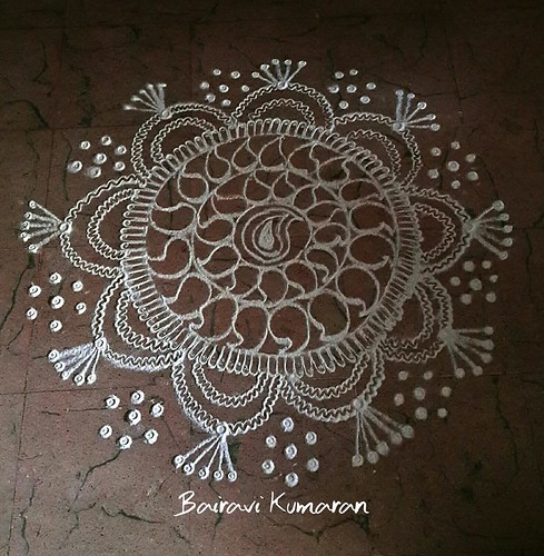 freehand rangoli design 1