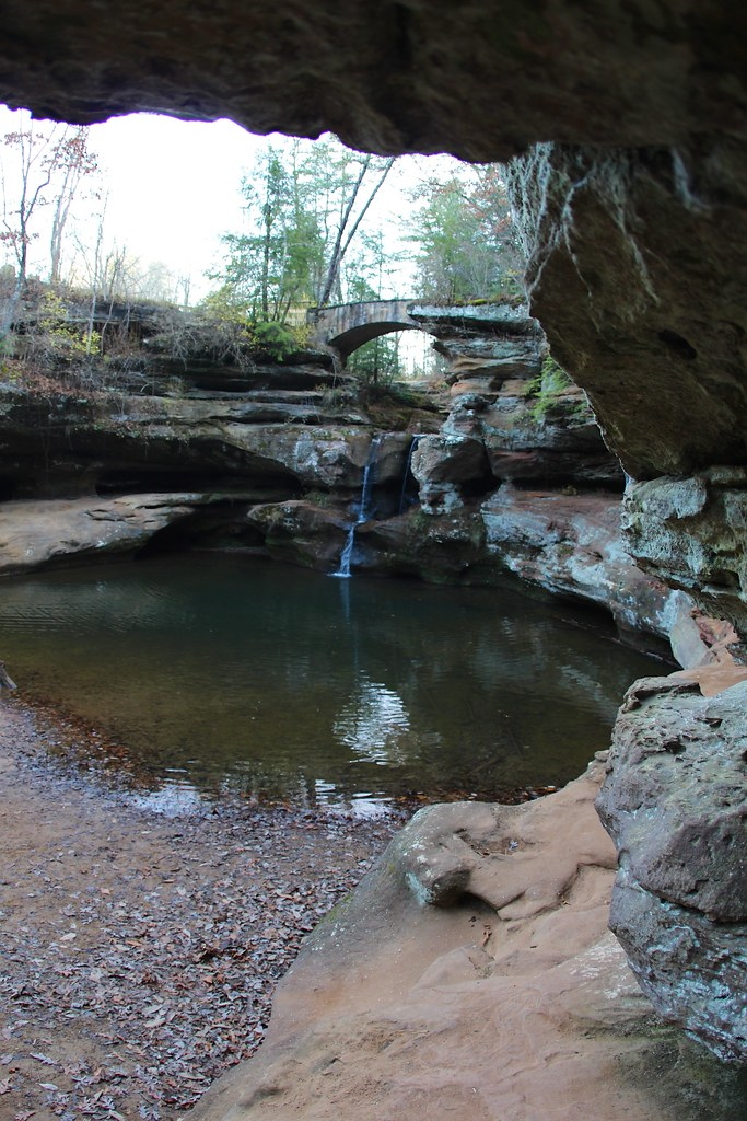 Classic Man Cave Map : View of upper falls old man s cave hocking hills state