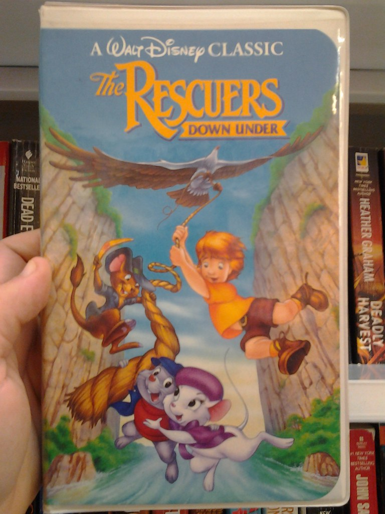 The Rescuers Down Under 1991 Vhs Walt Disney Classic