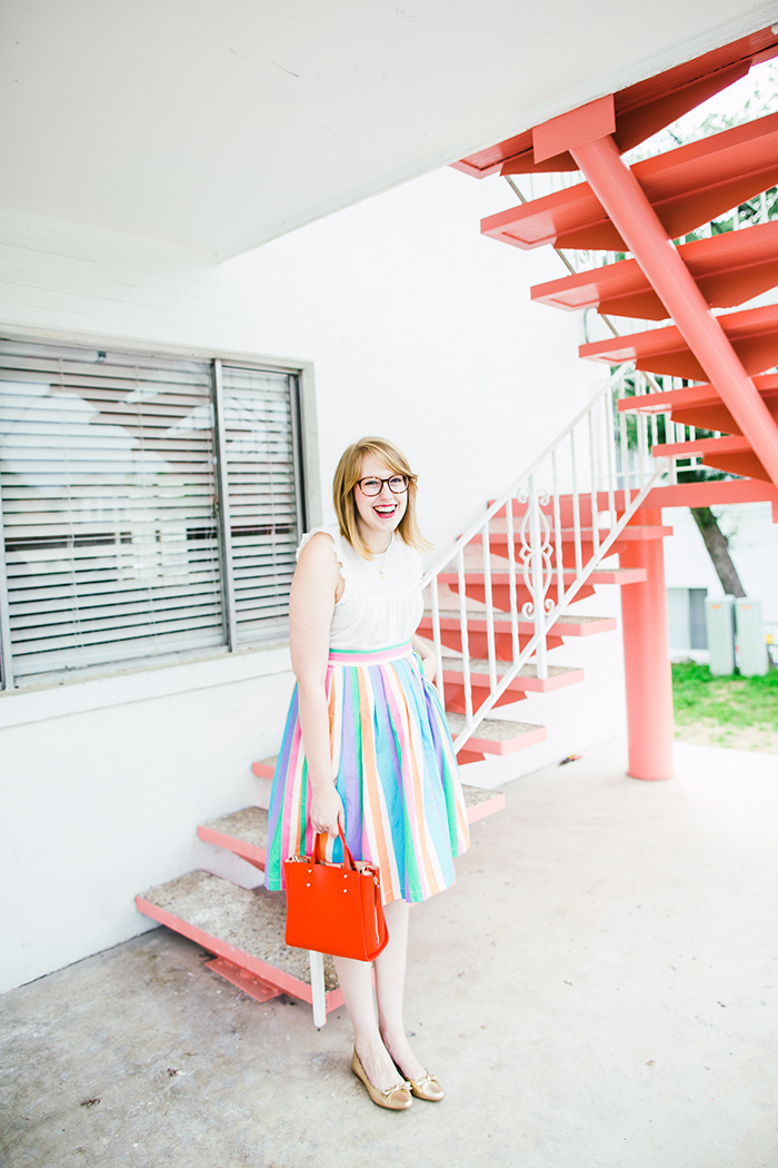 rainbow skirt by ModCloth