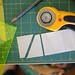 Use rotary cutter to cut along lines