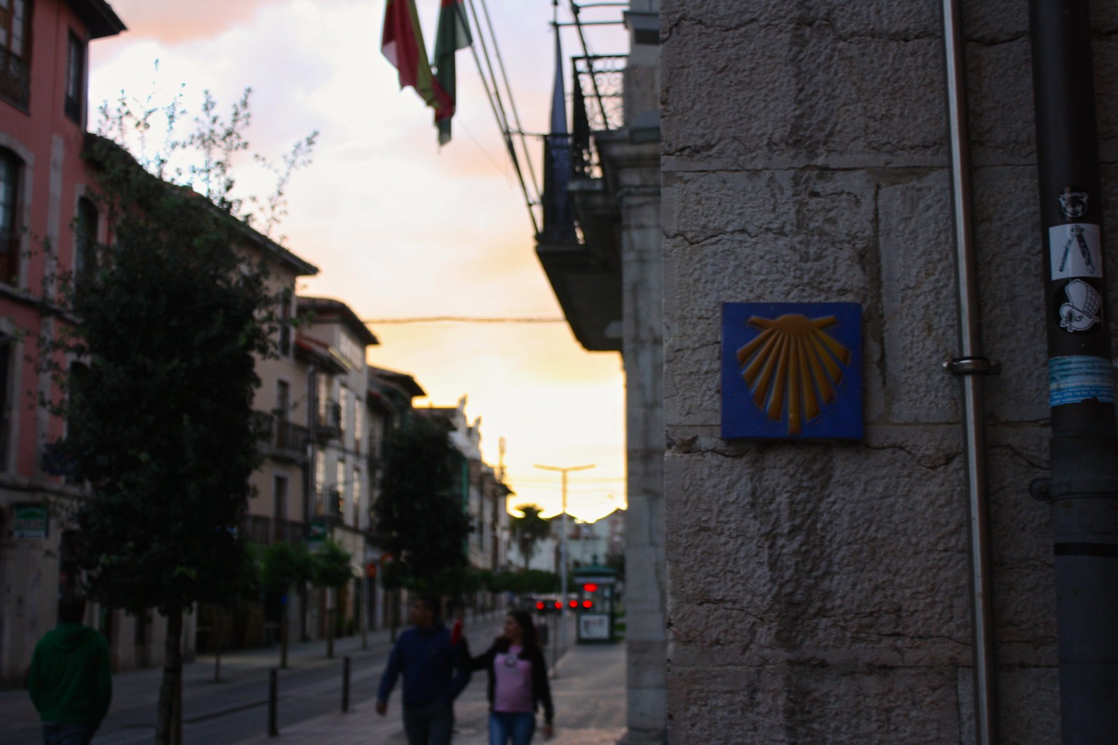 Camino de Santiago in Llanes, Spain