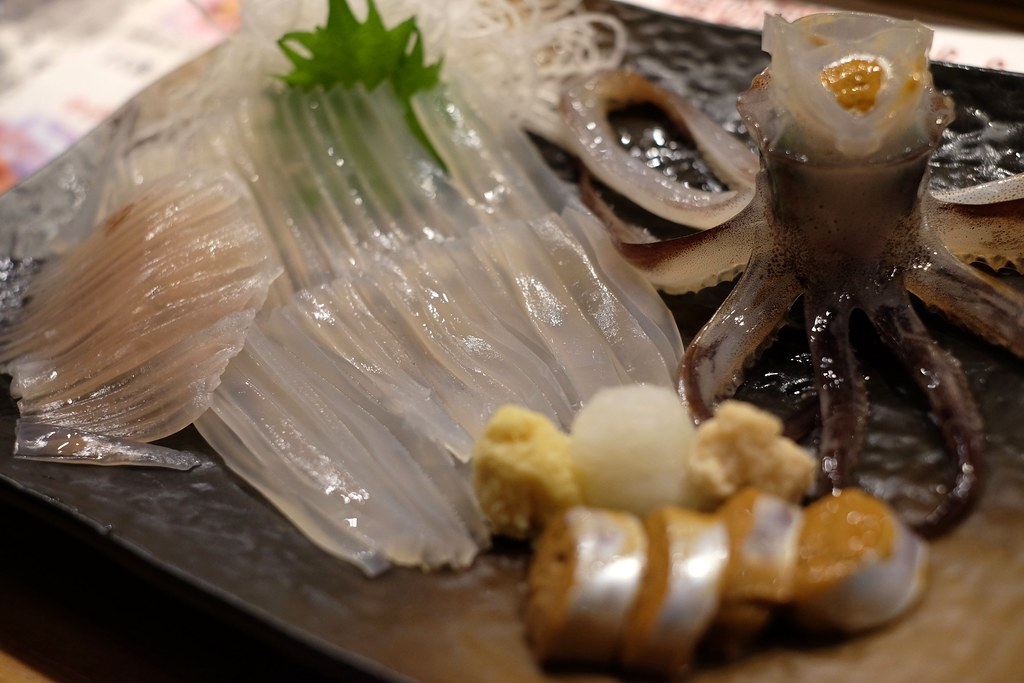 Image result for live squid sashimi