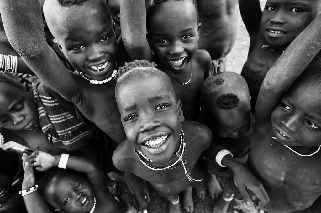 Ethiopian tribes, happy Mursi children | A group of happy ...