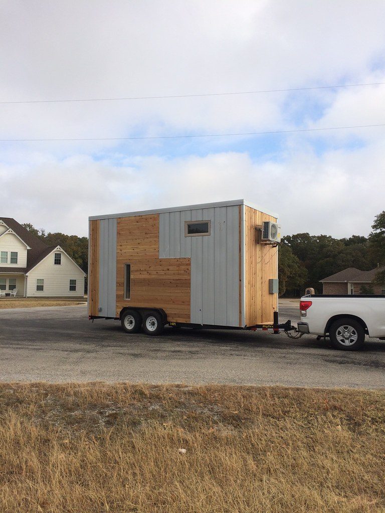 Modern Exterior Metal Seamed Panel And Shiplap Texas Cedar