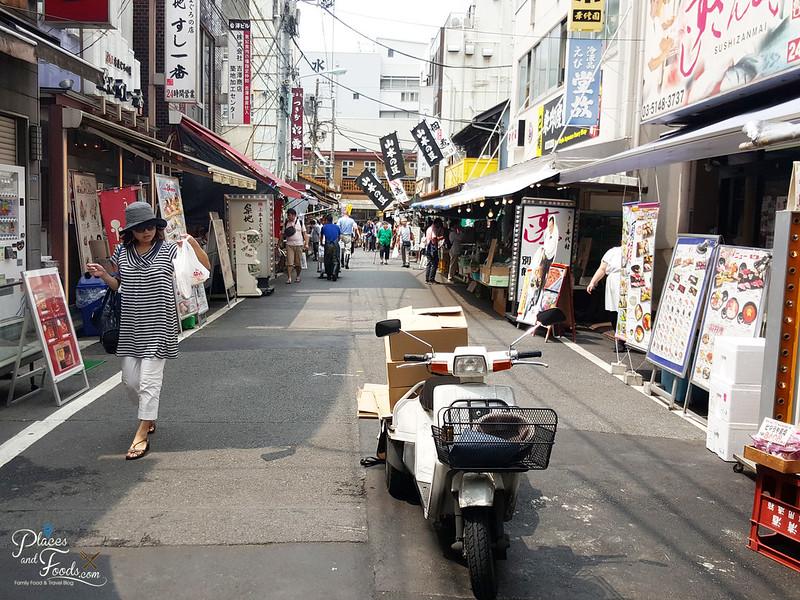 Tsukiji fish market tokyo shops
