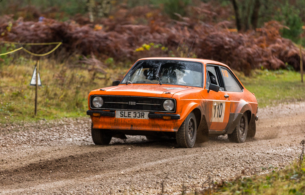 Ford Escort Mk2 Grp 4 Rally Car: Ford Escort MK2 Group 4 Rally Car On The 2014 Premier Rall