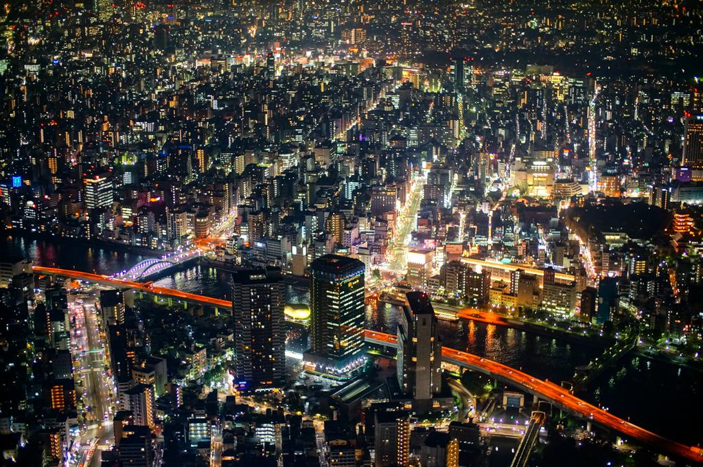 tokyo dark city skyline - photo #7