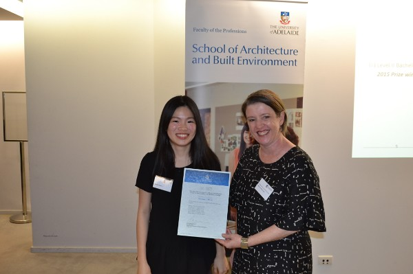 2015 Winner: Isabelle Chua - Presented by Presented by Nicolette di Lernia (AIA-SA Chapter Manager)