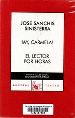 José Sanchis Sinisterra, El lector por horas Ay Carmela