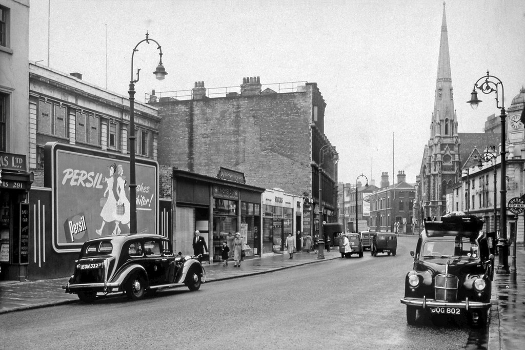 Broad Street Birmingham C1952 This View Looks Along