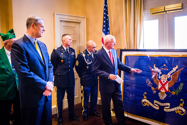 6.29.2016 101st Infantry Regiment Flag Presentation
