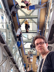 Tower Bridge glass floor, mirrored ceiling