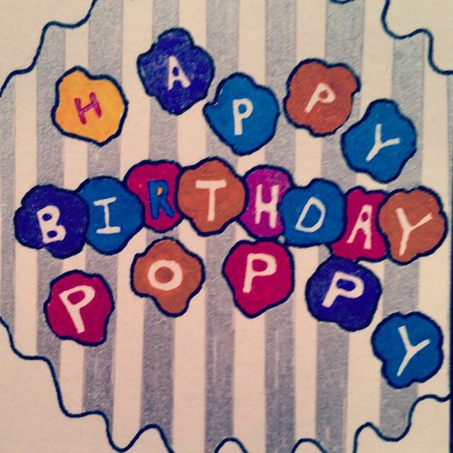 Happy Birthday Poppy Cake