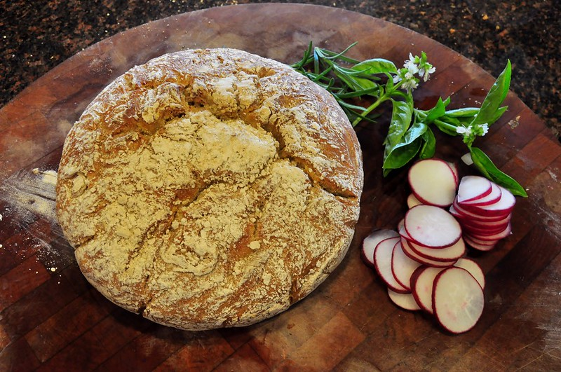 Bread, Basil and Radishes