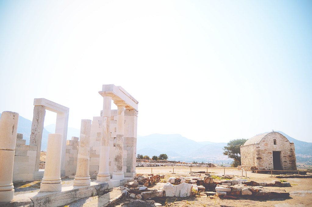 Ancient temples in the hinterland of Naxos, Greece | via It's Travel O'Clock
