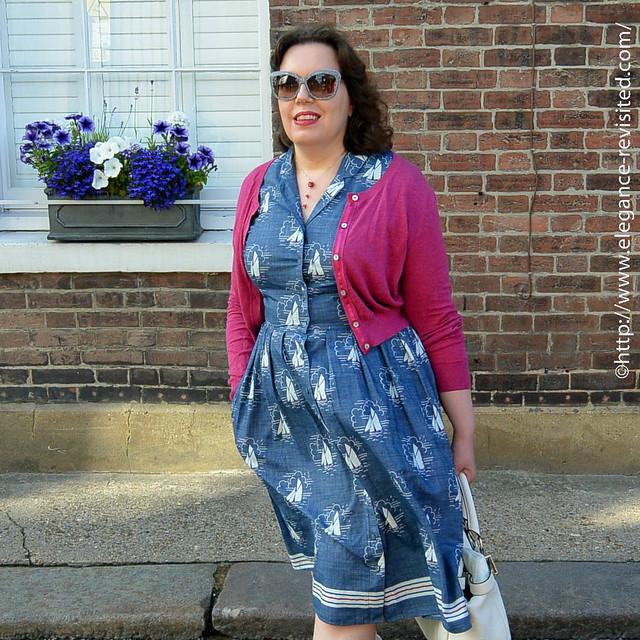 retro summer dress over 40