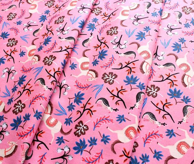 COTTON+STEEL Les Fleurs 8002-01 Carousel Pink