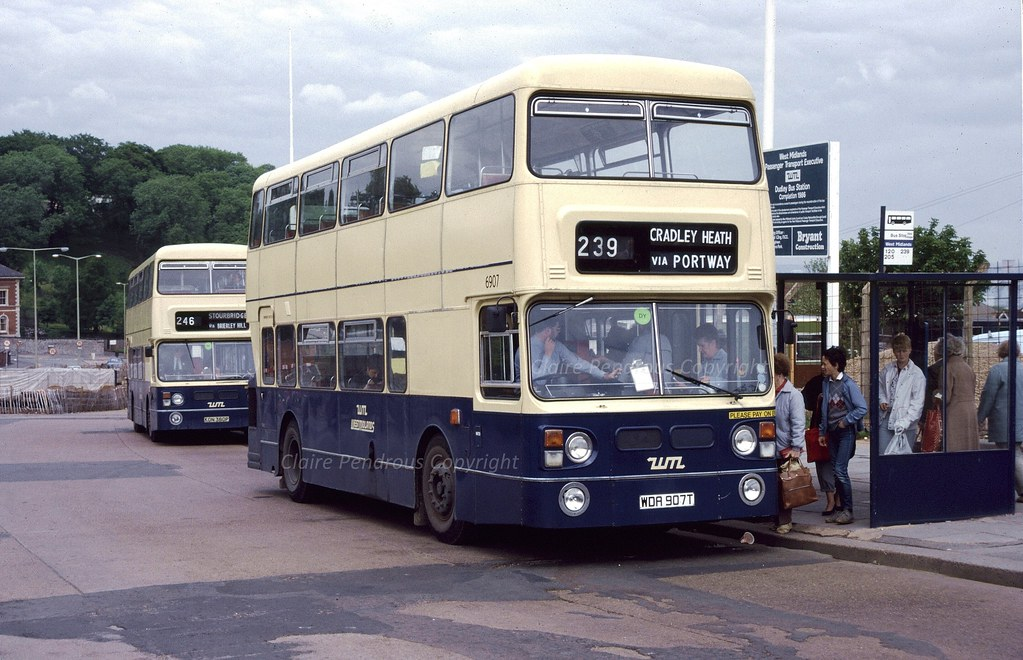 Wmpte 6907 Dudley Bus Station 1985 June 1985 And