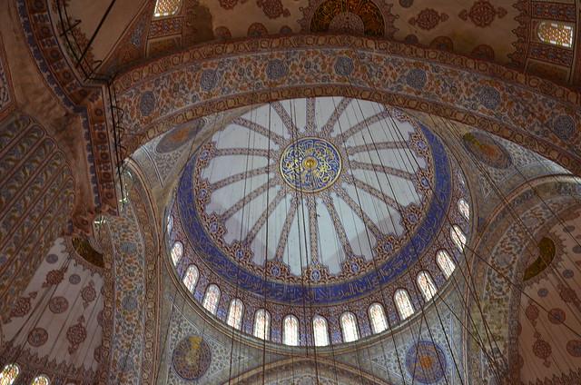 Kuppel der blauen Moschee von Istanbul