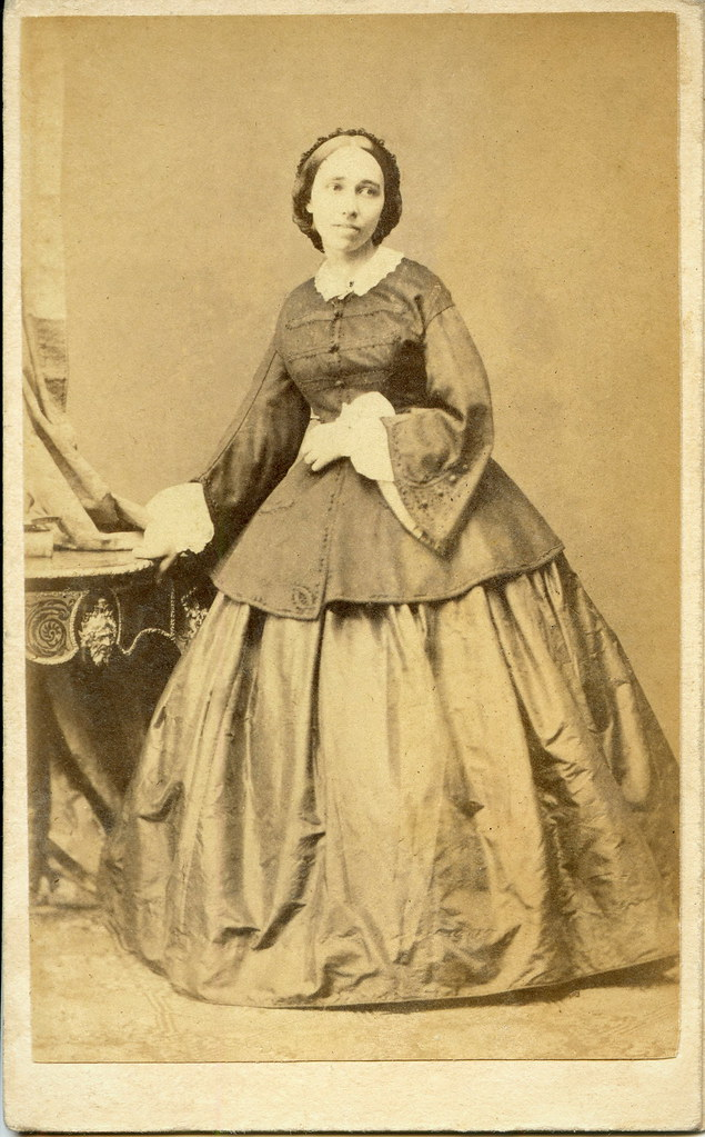 young woman by angerer vienna cdv 1860 photographer
