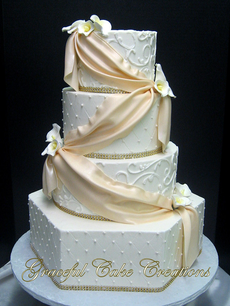 white wedding cake with gold bling white butter wedding cake with a champagne c 27410