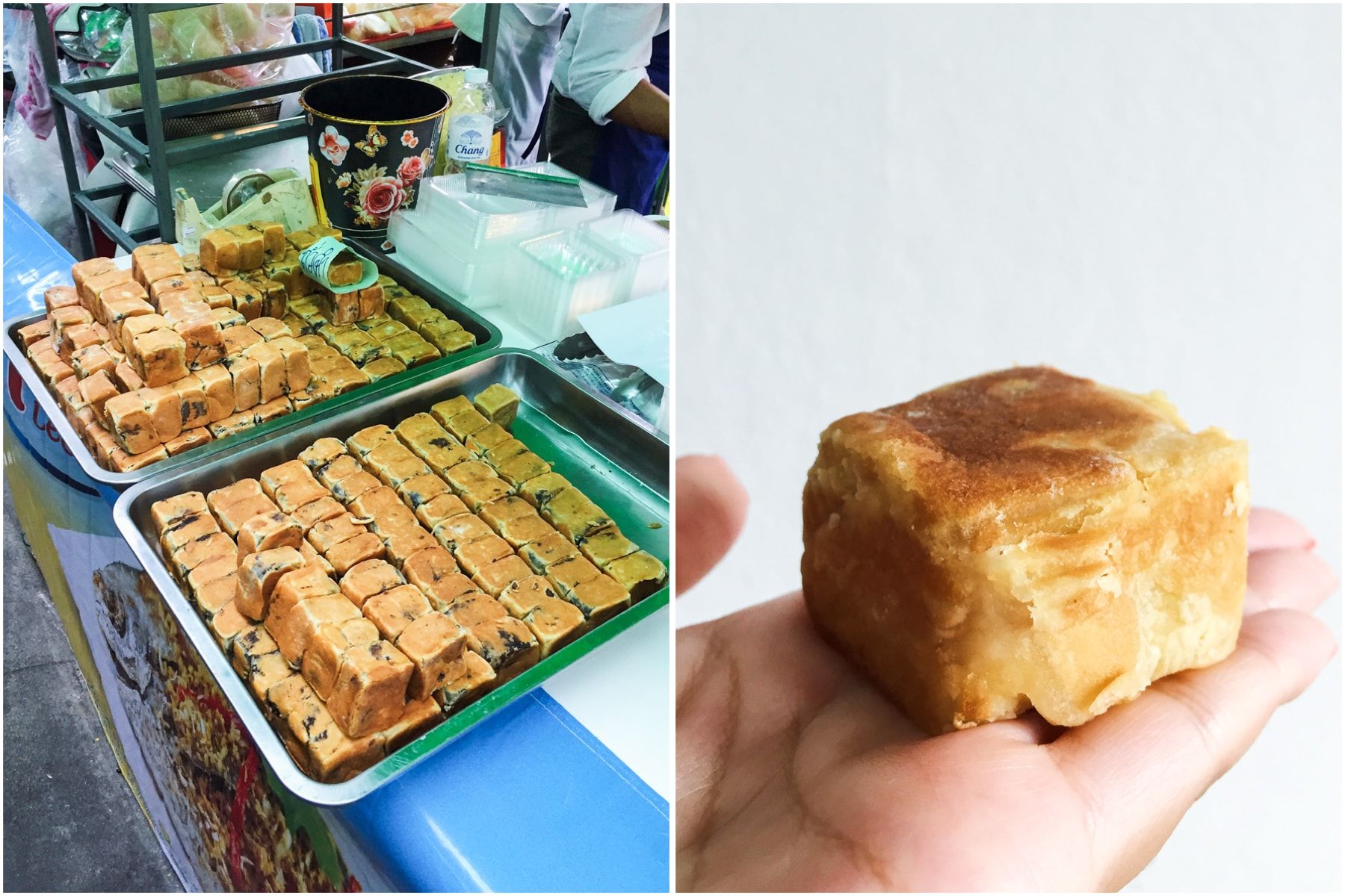 vegan Chinese Red Bean Cake from Phuket Vegetarian Festival 2016