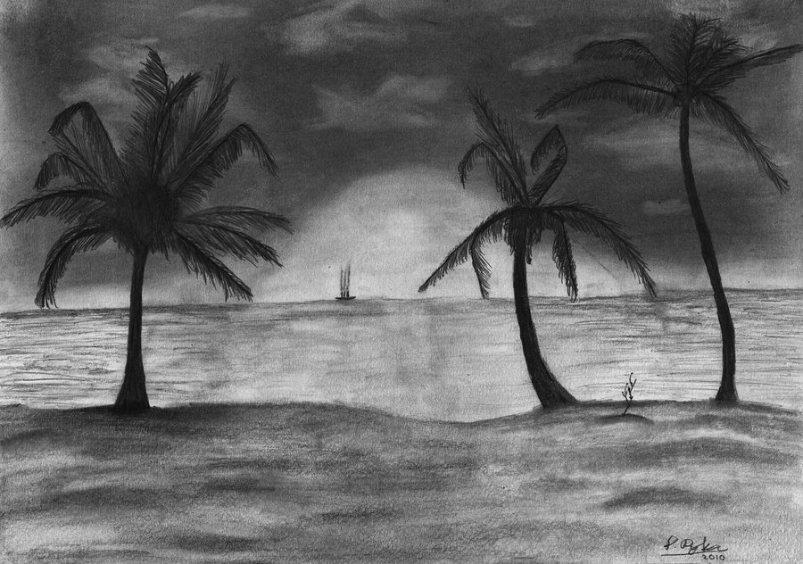 Easy Sunset Drawing Black And White Best Cars 2018