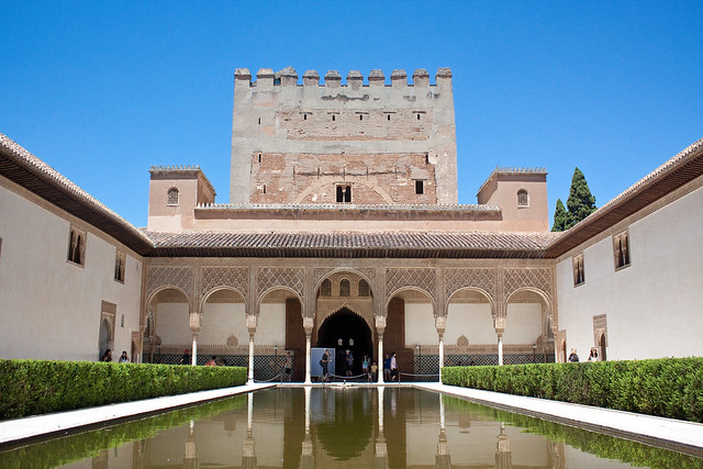 Courtyard of the Myrtles Alhambra Granada, Spain
