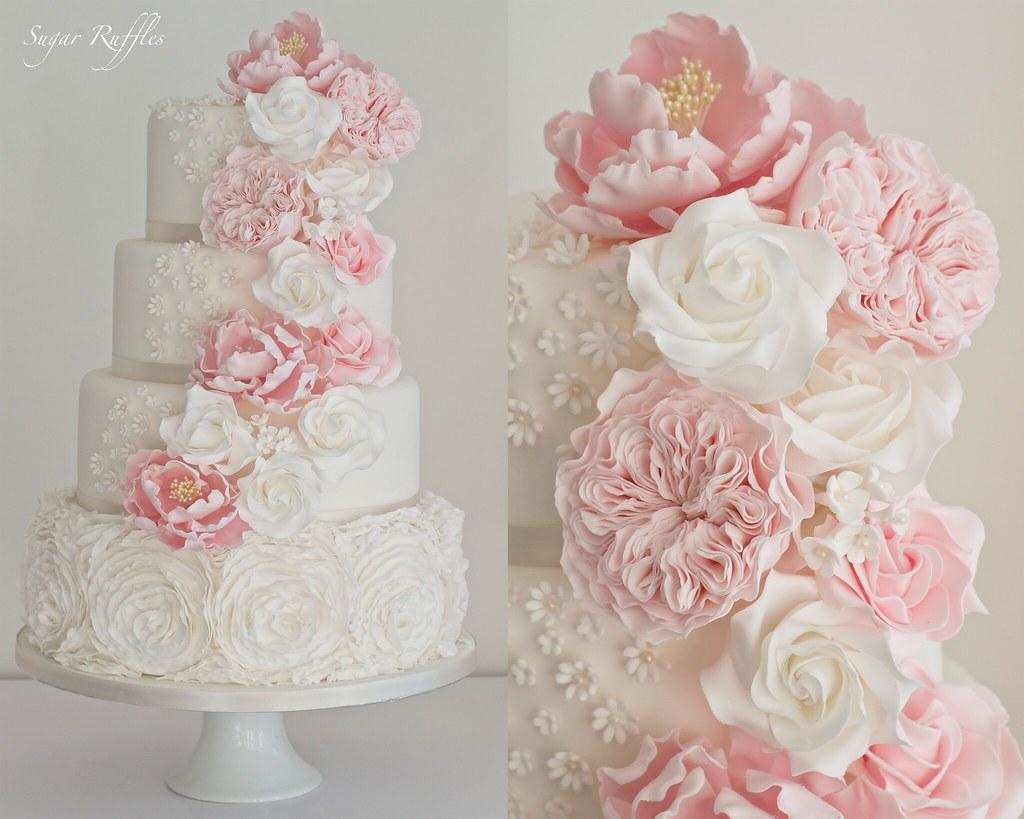 Ruffle Wedding Cake Designs