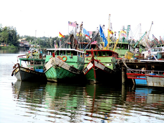 Kuching, fishing boats