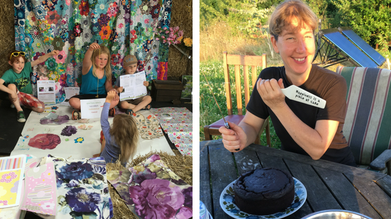 Left: Children's activities Right: Happiness is a piece of cake