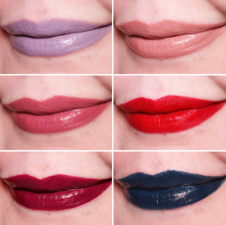 make up for ever artist rouge lipstick swatches (1)