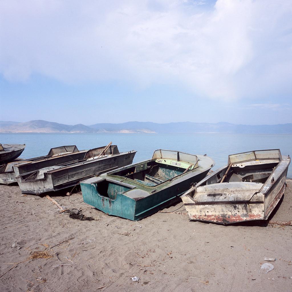 Lake Sevan: Fishing Boats On Lake Sevan