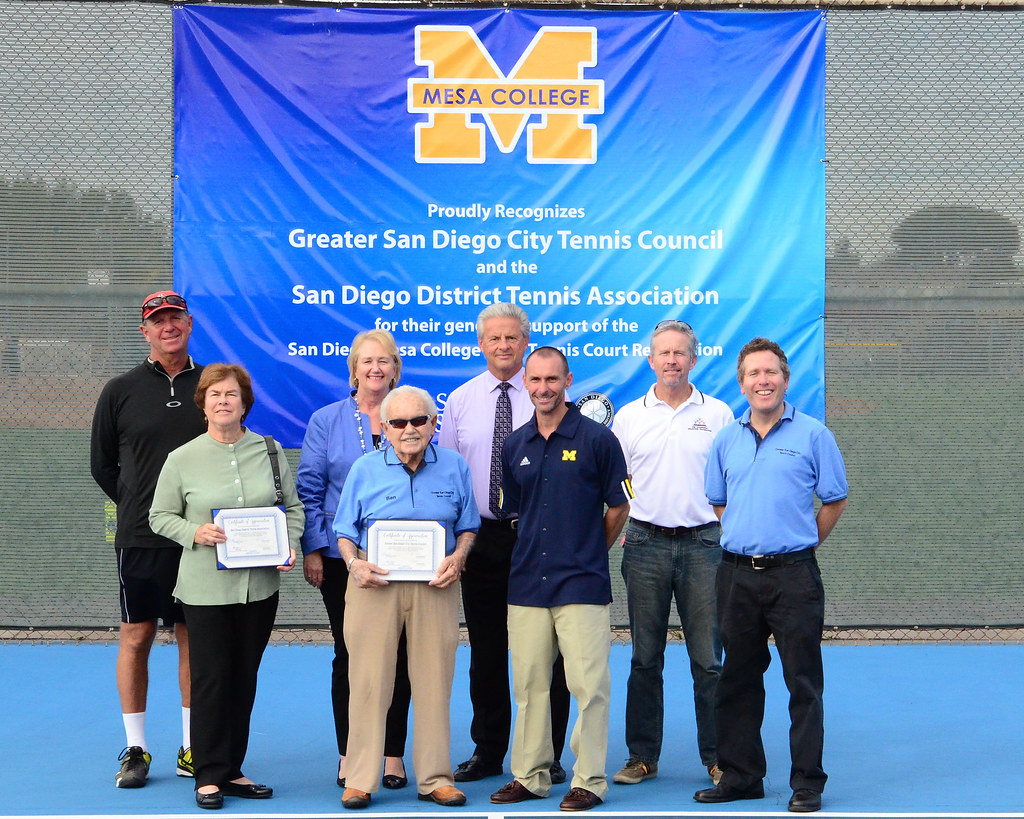 The Greater San Diego City Tennis Council GSDCTC Proudly Announces Completion Of An Eight Court Renovation Project At Mesa College
