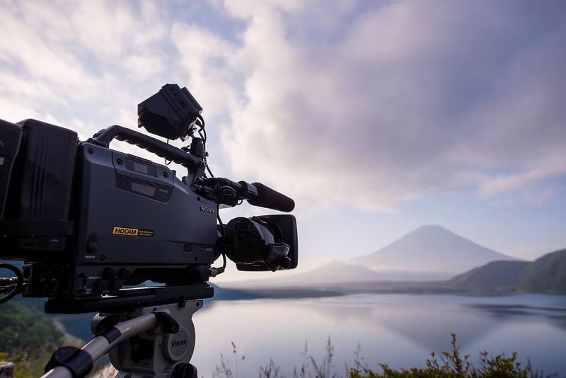 富士山を撮る。HDCAM SONY HDW-750 + Canon HJ11ex4.7B IRSE